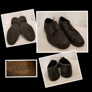 Ecco Black Lace up Shoes 46